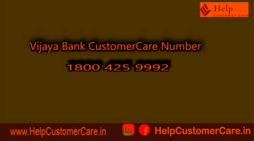 Vijaya Bank Toll Free Numbers 1800 425 5885