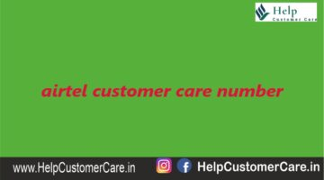 Airtel Customer Care Number 121