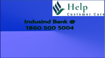 indusind bank customer care @ 1860 500 5004