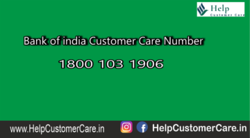 Bank of india Customer Care Number @ 1800 103 1906