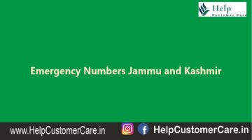 Emergency Numbers Jammu and Kashmir , Jammu and Kashmir Helpline Number
