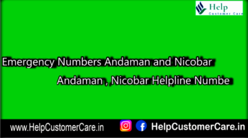 Emergency Numbers Andaman and Nicobar , Andaman , Nicobar Helpline Numbe