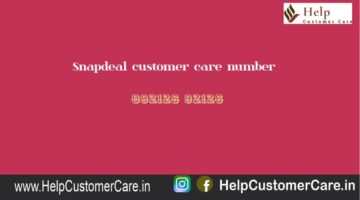 Snapdeal customer care number @ 092126 92126