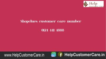 Shopclues customer care number @ 0124 441 4888