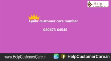 Quikr customer care number