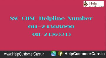 SSC CHSL Helpline Number
