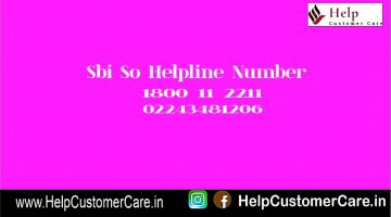 Sbi So Helpline Number