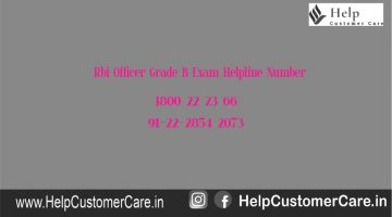 Rbi Officer Grade B Exam Helpline Number