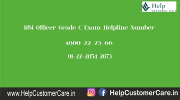 Rbi Officer Grade C Exam Helpline Number