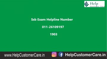 Ssb Exam Helpline Number