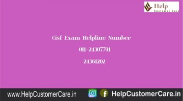 Cisf Exam Helpline Number