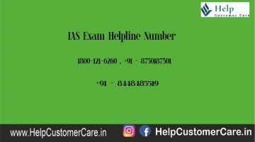 IAS Exam Helpline Number