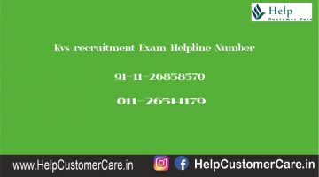 Kvs recruitment Exam Helpline Number