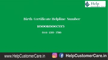 Birth Certificate Helpline Number
