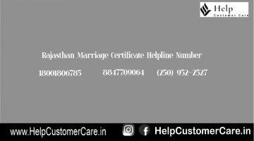 Rajasthan Marriage Certificate Helpline Number